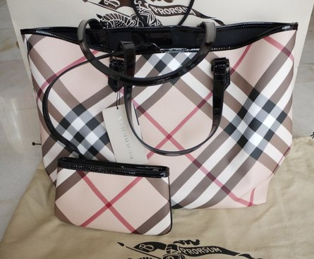 ef45ca9186 Burberry Nova Check Tote Bag Medium Item code : #bb01. Only BLACK  available. Comes with original dust bag, paper bag and authenticity card.
